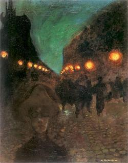 poboh:  Evening longing, Gustaw Gwozdecki. Polish (1880 - 1935)