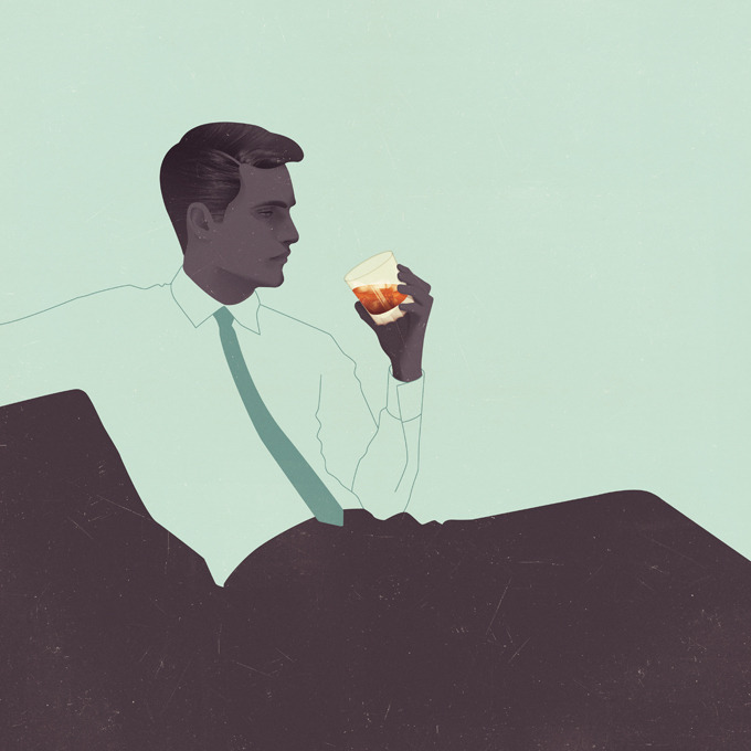 Jack Hughes Illustration: The Gentleman's Guide to Cocktails  The Gentleman's Guide to Cocktails was commissioned through Hardie Grant Books to accompany cocktail recipes with various illustrations in a 1950's / 1960's aesthetic. Selected illustrations available in shop.