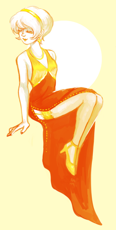 quick doodle of that dress because dayum rose you beaut