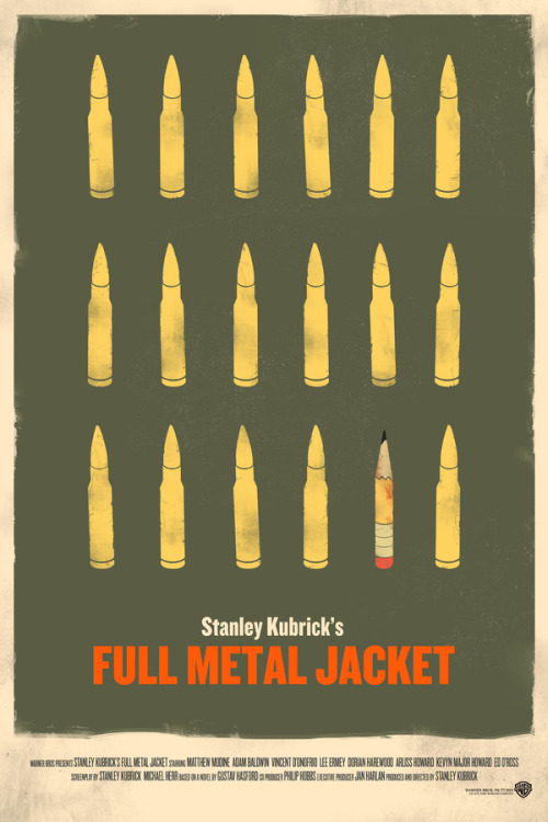 minimalmovieposters:  Full Metal Jacket by Chris Yoon