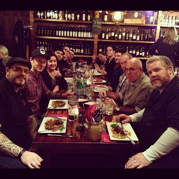 billytalentband:  End of tour dinner, thanks all!