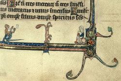 breakdancing fox Breviary, France 13th century (end). Cambrai, Bibliothèque Municipale, ms. 102, fol. 324r