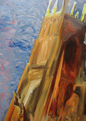 Work in Progress on York Minster [Board 1 of a triptych ]