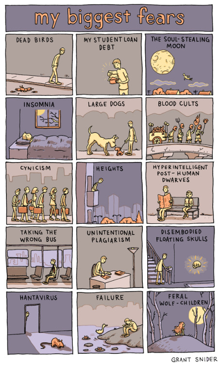 incidentalcomics:  My Biggest Fears