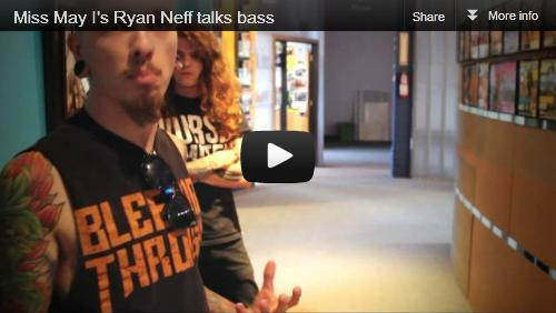 APxYT: Miss May I's Ryan Neff talks bassWhen Miss May I rolled through town recently, they took a stroll down our magazine wall and told us stories inspired by the cover artists. When MMI bassist Ryan Neff spotted Every Time I Die, he told us how they helped him learn to play bass for a metal band! Click through to check out our YouTube exclusive!Bonus: Check out some of the awesome stuff we have hanging around the headquarters here in the background!Catch Miss May I on The AP Tour with The Ghost Inside, Glass Cloud, Like Moths To Flames and The Amity Affliction now through the end of November.