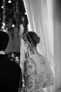 Vanessa Traina's Givenchy wedding dress detail. Photograph by Samuel Lippke & Allan Zeped