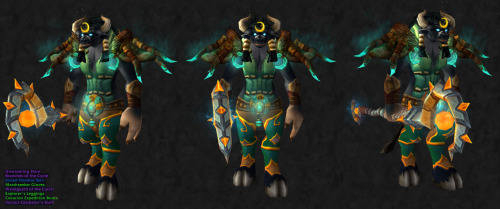 Poor tauren ladies, never getting transmogs submitted :c  Here's one for you, though it's druid only.