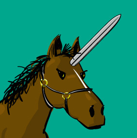 loosecanvas:  Horses and Bayonets? Not so unconventional when the Zombie Apocalypse takes place!!