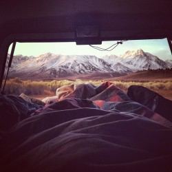 mountainsmoonsandredwoods:  Good morning! #truck #camping