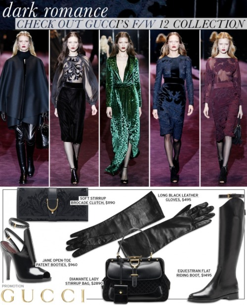 #velvety #leather goodness by Gucci thanks to @whowhatwear for the #romantic F/W preview: