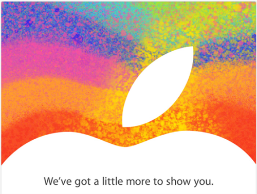 Apple's Oct. 23 'iPad Mini' event: What to expect (Photo: Apple) The rumors surrounding Apple's press event, scheduled for Oct. 23, are deafening. Will the Cupertino-based company announce a smaller iPad? (It had better.) Will the company offer up a 13-inch MacBook Pro with a Retina display? (Very likely!) How about an Apple-branded coffee maker? (No.) Read the complete story.  What do you think of a smaller iPad? Would you buy an iPad Mini?