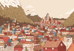 luke-pearson:  The city of Trolberg. Hilda and The Bird Parade is out now!