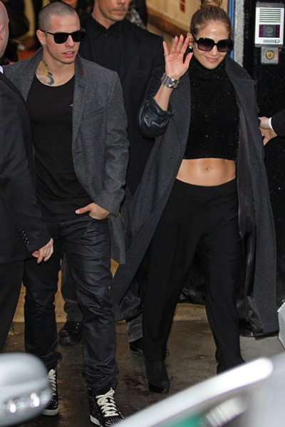 "JLo + her man Casper in London for her ""Dance Again"" Tour."