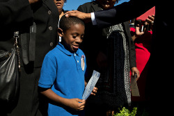 obamaandkids:   President Barack Obama greets an attendee after signing his invitation during the September 11th Observance Ceremony at the Pentagon Memorial in Arlington, Va., Sept. 11, 2012. (Official White House Photo by Pete Souza)  [Via]