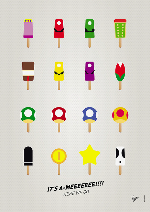 insanelygaming:  My Mario Ice Pop  Prints & Posters available on RedBubble Created by Chungkong