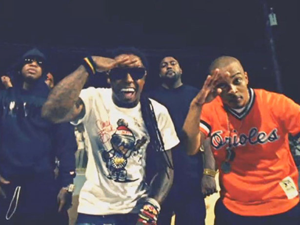 "Fresh New Music: T.I. and Lil Wayne ""Ball"" outside the club."