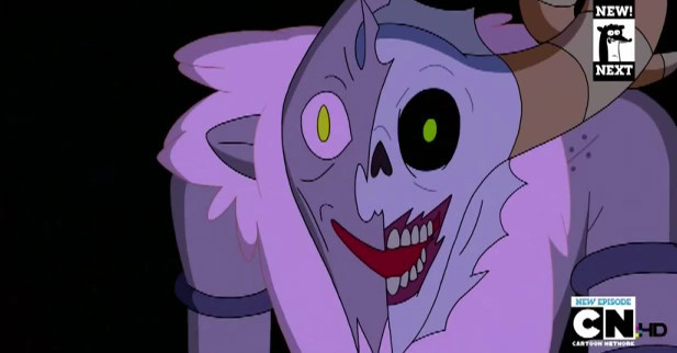 Adventure Time - The Lich Finn has a weird dream and goes to Billy for help, but Billy was taken over by the Lich, who opens a portal, transporting Finn and Jake to another dimension, where they live on a farm!