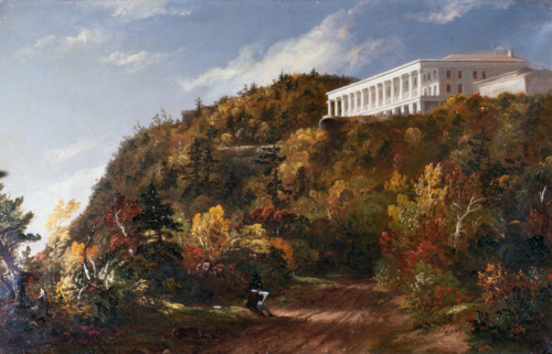 Human nature … Thomas Cole's Catskill Mountain House (1845-1847). Photograph: Francis G Mayer/Corbis When the painter Thomas Cole headed out of New York into the upriver wilderness of the Catskills in the early 19th century, he discovered a new world of colour. Forests in the American fall were new territory for landscape art – a brave new world of reds and purples. Cole, who founded the American style of Romantic landscape that was to be called the Hudson River School, put the chromatic spectacle of America's fall leaves into the history of painting with Falls of the Kaaterskill and Shroon Mountain. Read more here