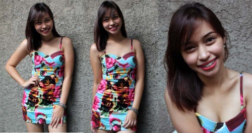 Disclaimer: I LOVE MYSELF. haha! :D these photos are taken at home *by my niece  *me before going somewhere.  *no filters *And that dress is the newest I bought from my own savings.  I love how I smile, I usually have that uneven smile.. :/