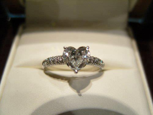heart diamond engagement ring!