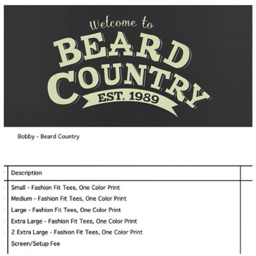 Get ready!  @beardcountry first pressing of our tshirts are being printed as we gram! Email us for inquiry! #nofilter #beardcountry #beardlife #beardlove #beardswag