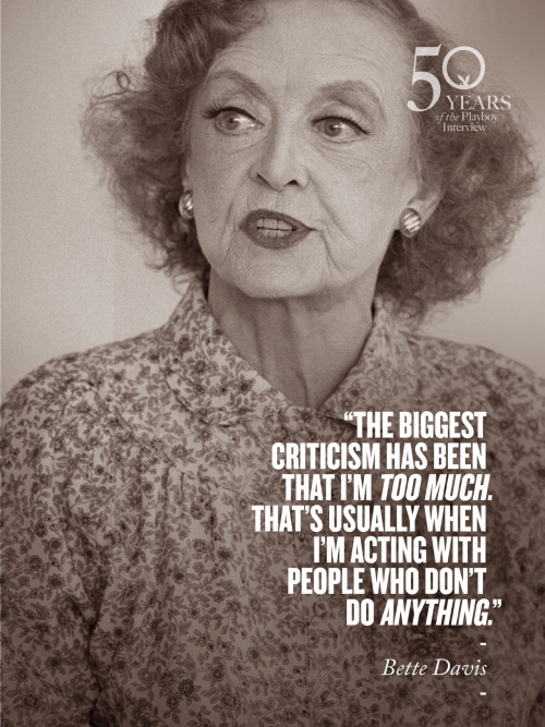 playboy:  50 years of the Playboy Interview: Bette Davis