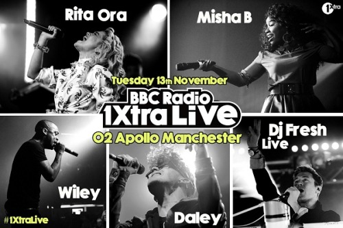 I've just been announced for BBC Radio 1Xtra Live in Manchester on 13th November! Who's in?!