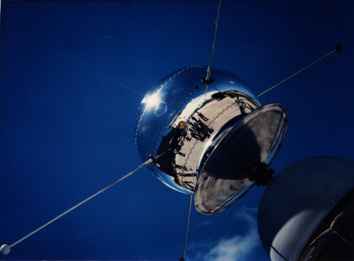 Vanguard Satellite (1958)  Vanguard satellite SLV-2 is being checked out at Cape Canaveral, Florida. The Solar X-ray radiation satellite was launched June 26, 1958. The second stage of the launch vehicle ended prematurely due to low chamber pressure and terminated the mission. The launch was part of the U.S. International Geophysical Year program under the direction of the Office of Naval Research.