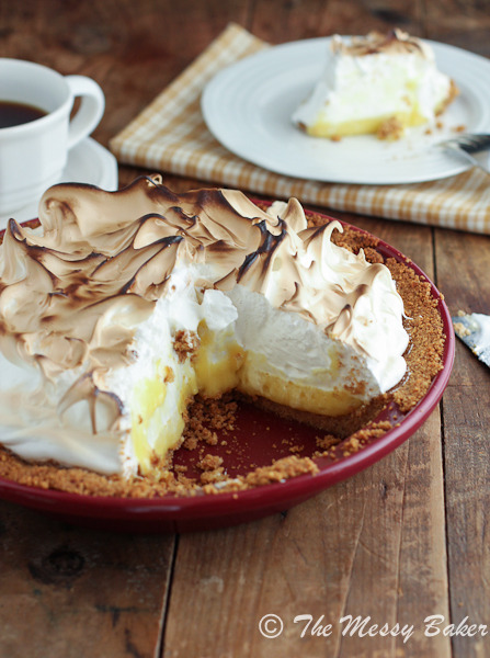 (via #SundaySupper~Lemon Meringue Pie for #BakeforaCure with Chantal)