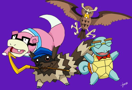 that-sexy-italian:  joseomatic:  Sly Cooper and the gang, Pokemon style  Oh