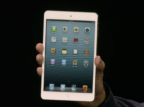 "iPad Mini starts at $329, is thinner than a pencil (Photo: Apple) ""This isn't just a shrunken down iPad,"" says Apple's senior vice president of worldwide marketing, Phil Schiller, as he showed off the all new iPad Mini during Apple's media event on Tuesday. ""It's an entirely new design."" Read the complete story."