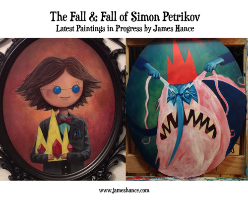 Latest Paintings in Progress: 'The Fall & Fall of Simon Petrikov' (Adventure Time) Getting there… phew, intense! x  My site / My Facebook