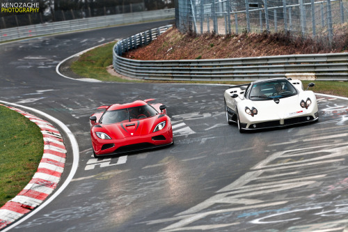 Battle for the throne Starring: Koenigsegg Agera R and Pagani Zonda F Clubsport (by Keno Zache)