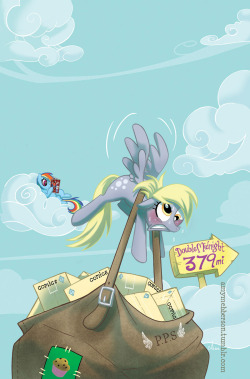 Derpy Delivery: Variant cover for Double Midnight comics