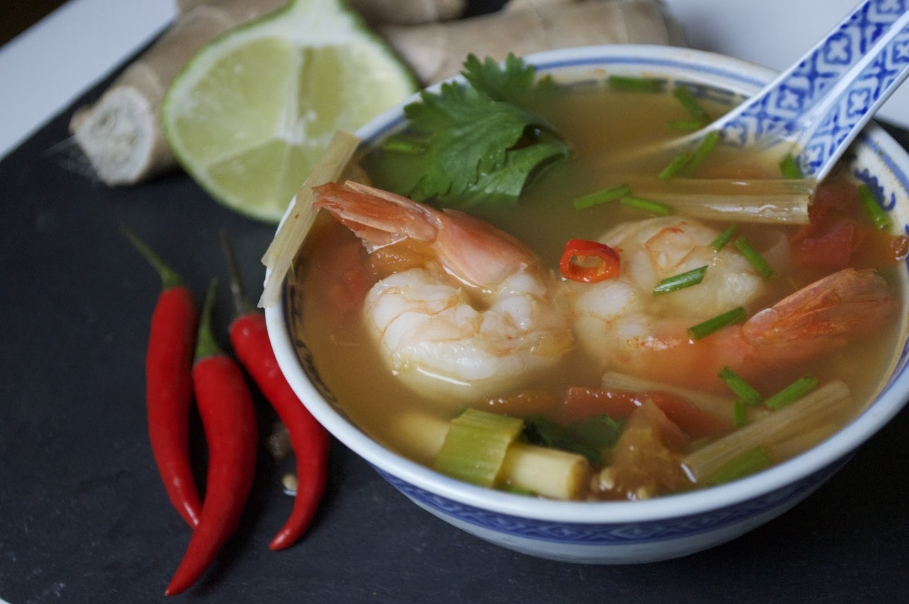 Tom Yum Goong (Spicy Thai Soup with Shrimp and Lemongrass)