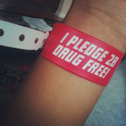 Yup. That's right. I pledge 2B drug free. #drugfree