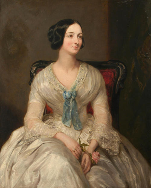 monsieurleprince:  Margaret-Sarah Carpenter (1793 - 1872) - A portrait of Mrs Simpson as a young woman, 1850