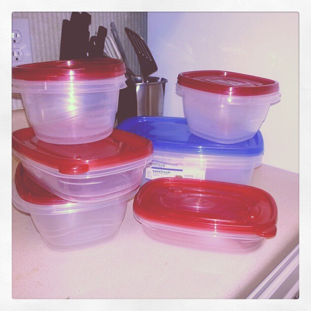 The dollar store is awesome for these dollar containers. Easy to help with food prep!! #fitness #health #nutrition #food #foodie