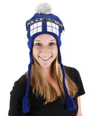 Doctor Who: Tardis Hat This Doctor Who TARDIS Laplander Hat is designed to look just like the Doctor's Police Call Box and will keep your head amazingly warm while simultaneously shouting out your love for the BBC's ever-popular Doctor Who television program! ufffffffff
