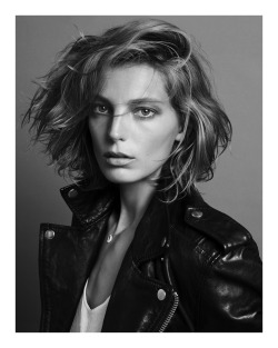 inezandvinoodh:  @BLKDNM: Six strong women in BLK DNM Leather Jacket 1 in Nov issue of @VogueParis: Daria Werbowy  xxiv