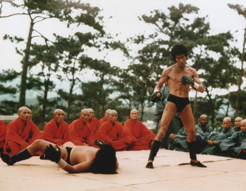 "It's ironic that Bruce Lee fighting one of the greatest of all time, Sammo Hung, made for one of the least compelling fights in ""Enter the Dragon."" Still, this is a pretty iconic shot."