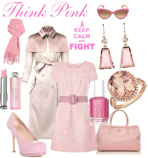 Honor Breast Cancer Awareness Month by thinkeventsplanning featuring chanel tote bag