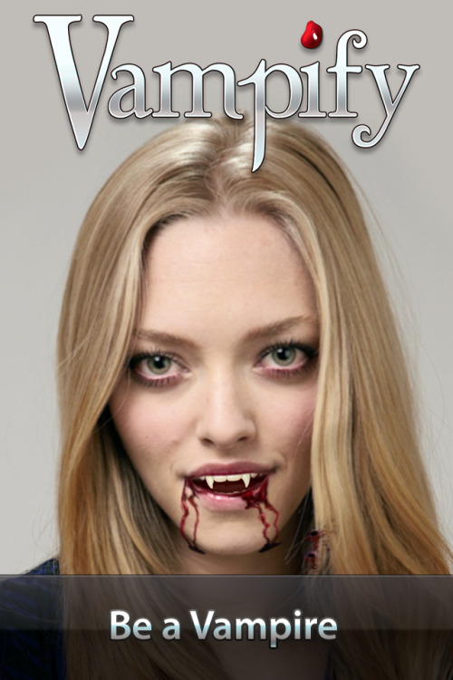 Vampify iPhone App is out! Turn friends and yourself into vampires! Its super fun! Download it now! I've been working on this for the last couple of months. https://itunes.apple.com/us/app/vampify/id567141387?mt=8