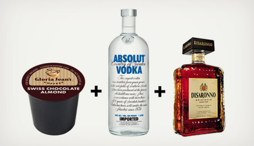 laughingsquid:  K-Cup Cocktails, MIxed Drinks Made With Flavored Single Serve Packs  YES.