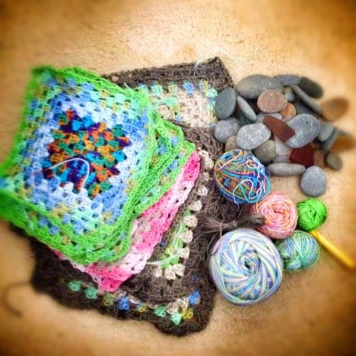 End of holiday stocktake. #crochet #craft #yarn #wool #agrannyaday #mycreativespace