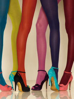 crazy tights + heels = YES
