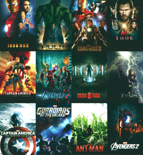 littlehandgernade:  The Marvel Cinematic Universe