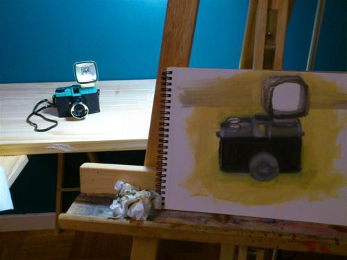 I bought my girlfriend a LoMo, girlfriends loves LoMo Sooo, i try to paint it.