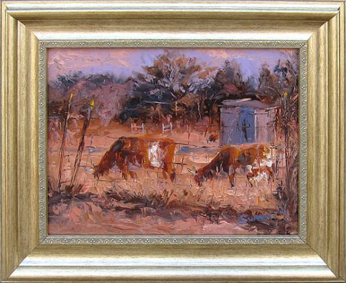 "Cattle Family by James Swanson on Flickr.Cattle Family 18"" x 22"" by James Swanson oil on linen panelwildemeyer.com/james-swanson/"
