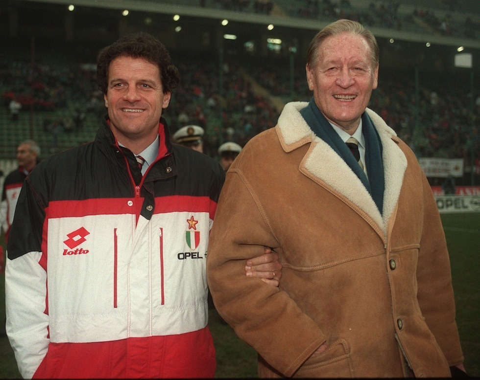 Fabio Capello and Nils Liedholm, 1994. Source: Il Post